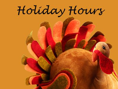 HGR Industrial Surplus Thanksgiving hours