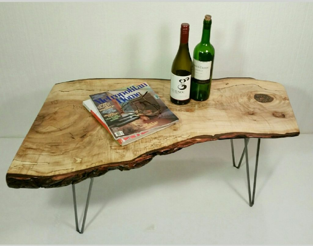 American Eagle Antiques live-edge coffee table
