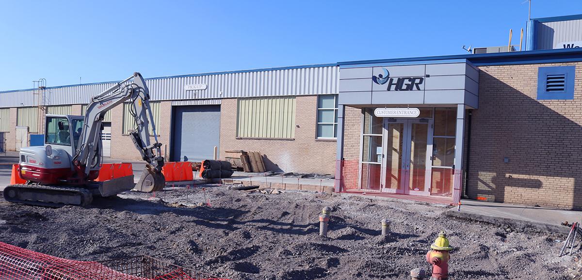 HGR Entrance Construction