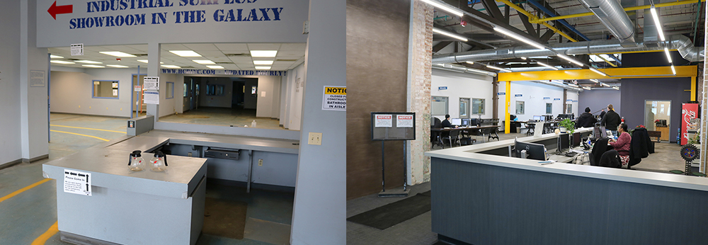 HGR Sales Office Before and After