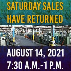 Saturday Used Machinery Sale