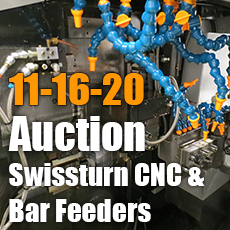 CNC Lathe and Bar Feeder Auction