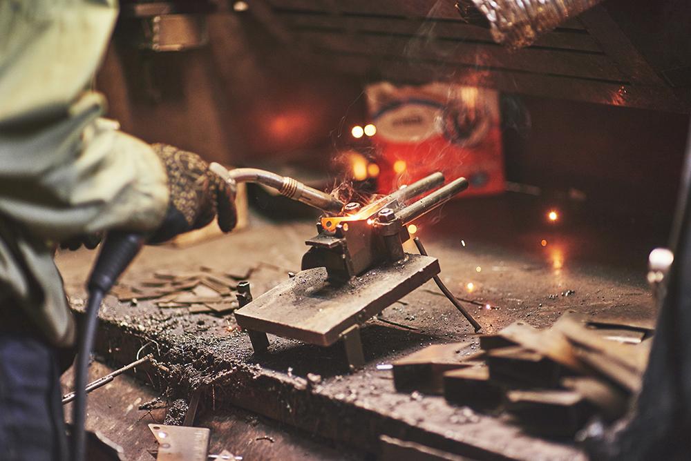 Welding at HGR Industrial Surplus